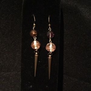 Sparkly deep bronze and copper earrings